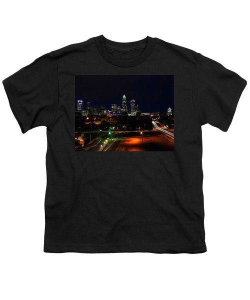Charlotte Nc At Night Youth T-Shirt