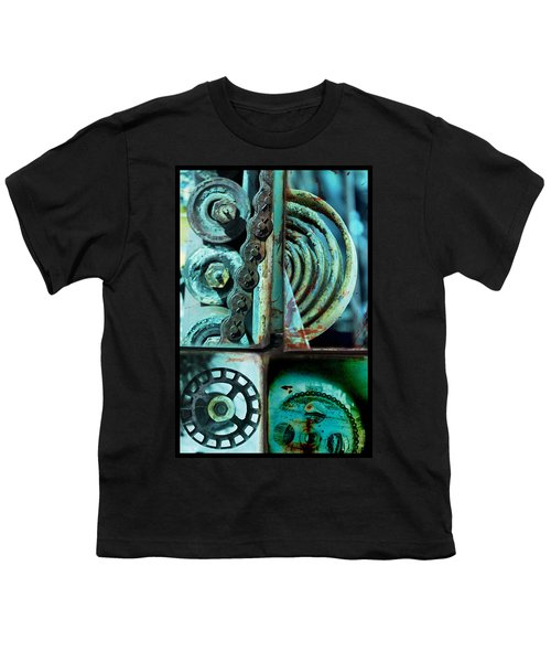 Circle Collage In Blue Youth T-Shirt