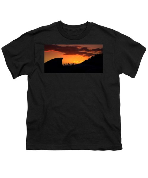 Youth T-Shirt featuring the photograph City In A Palm Of Rock by Miroslava Jurcik