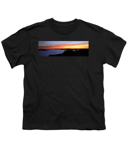 Youth T-Shirt featuring the photograph City Lights In The Sunset by Miroslava Jurcik