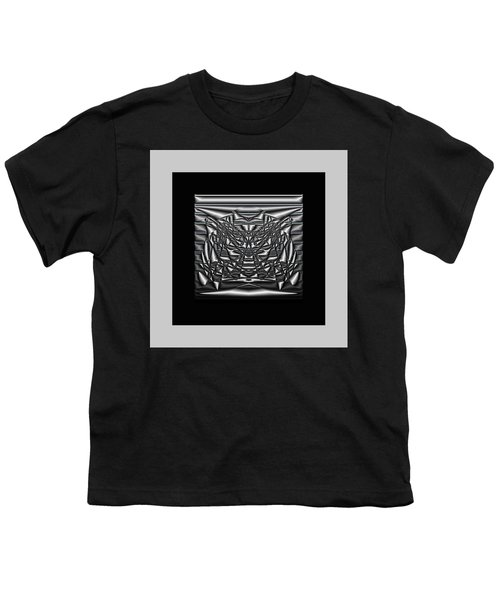 Youth T-Shirt featuring the digital art Classic Shine - Silver by Mihaela Stancu