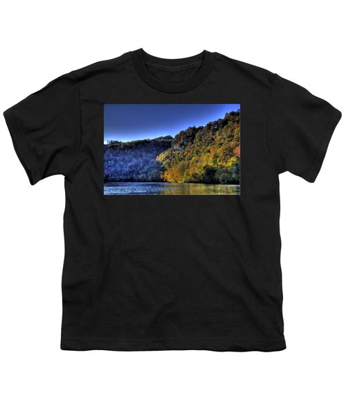 Youth T-Shirt featuring the photograph Colorful Trees Over A Lake by Jonny D