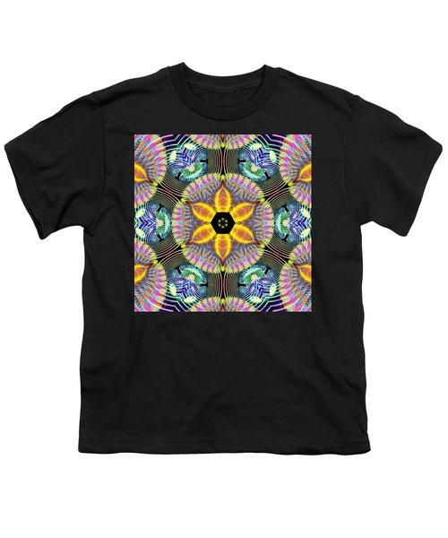 Cosmic Spiral Kaleidoscope 13 Youth T-Shirt by Derek Gedney