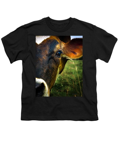 Cow Eating Grass Youth T-Shirt