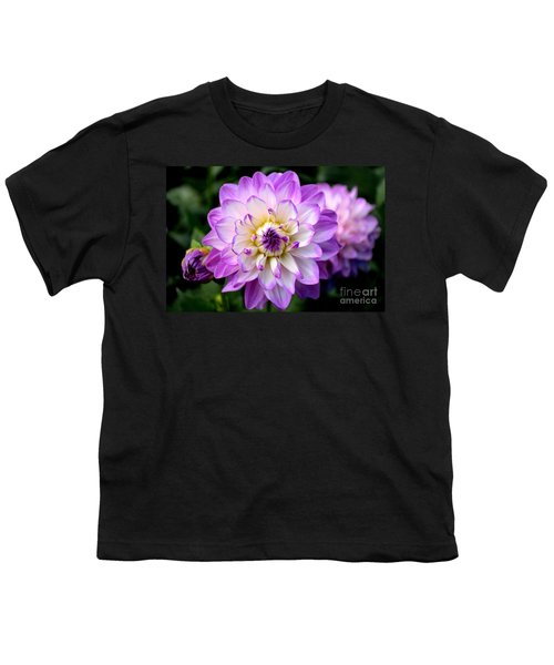 Dahlia Flower With Purple Tips Youth T-Shirt