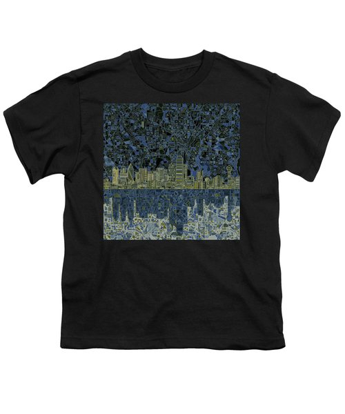 Dallas Skyline Abstract 2 Youth T-Shirt