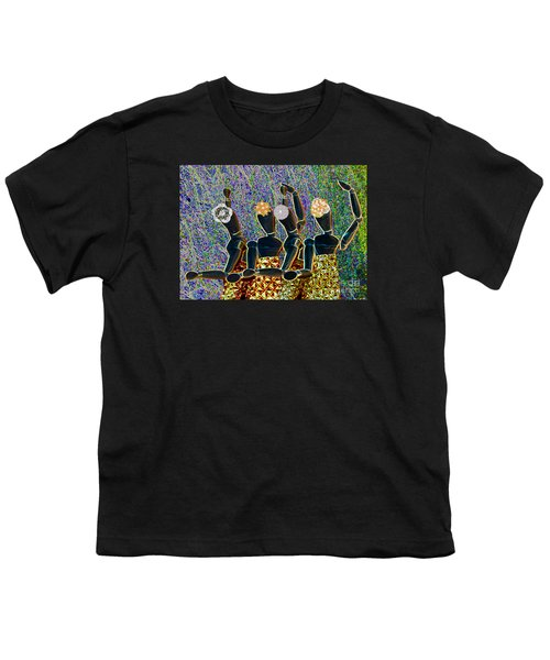 Youth T-Shirt featuring the photograph Dance Party by Nareeta Martin