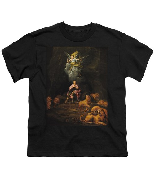Daniel In The Den Of Lions Oil On Canvas Youth T-Shirt