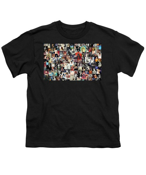 David Bowie Collage Youth T-Shirt by Taylan Apukovska