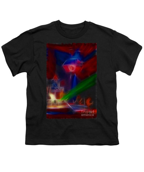 Def Leppard-adrenalize-gf12-fractal Youth T-Shirt by Gary Gingrich Galleries