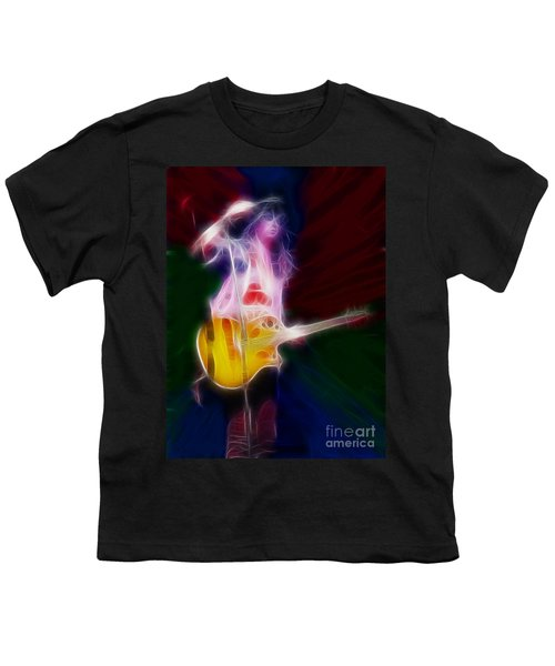 Deff Leppard-adrenalize-joe-gf25-fractal Youth T-Shirt by Gary Gingrich Galleries