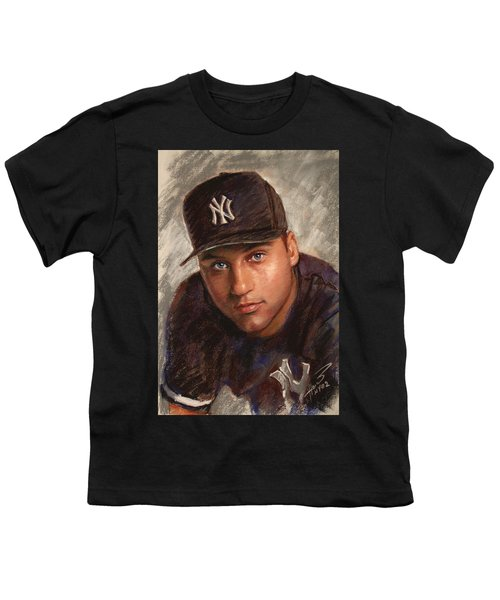 Derek Jeter Youth T-Shirt by Viola El