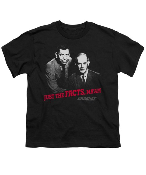 Dragnet - Just The Facts Youth T-Shirt