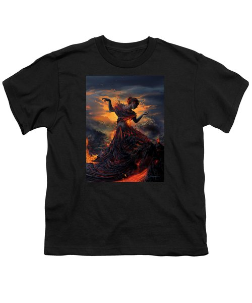 Elements - Fire Youth T-Shirt by Cassiopeia Art