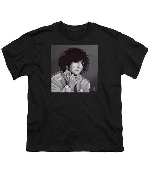 Elizabeth Taylor Youth T-Shirt by Paul Meijering