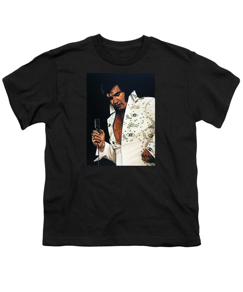 Elvis Presley Painting Youth T-Shirt