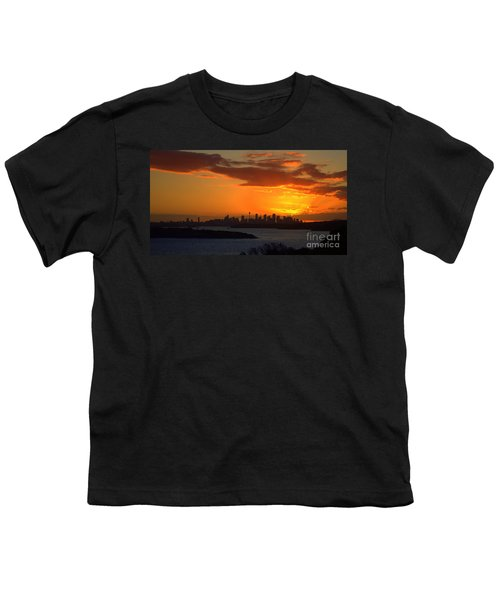 Youth T-Shirt featuring the photograph Fire In The Sky by Miroslava Jurcik