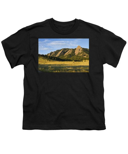 Flatirons From Chautauqua Park Youth T-Shirt