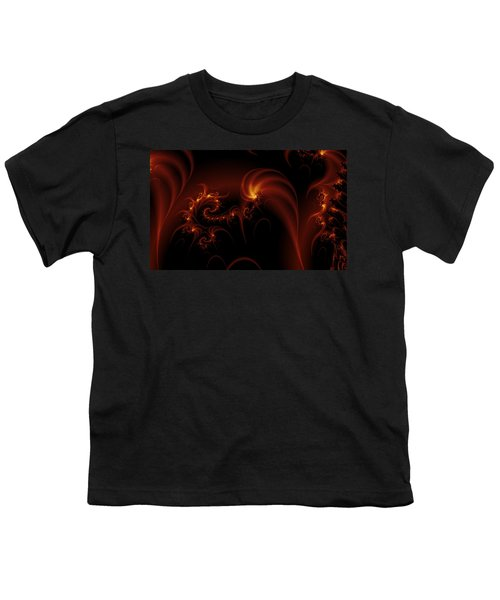 Floating Fire Fractal Youth T-Shirt