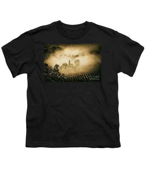 Youth T-Shirt featuring the photograph Foggy Tuscany by Silvia Ganora