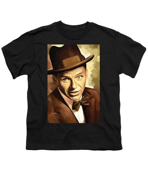 Frank Sinatra Artwork 2 Youth T-Shirt by Sheraz A