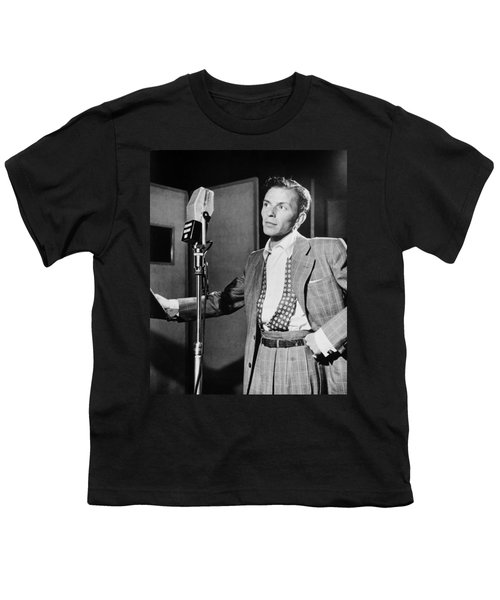 Frank Sinatra Youth T-Shirt by Mountain Dreams