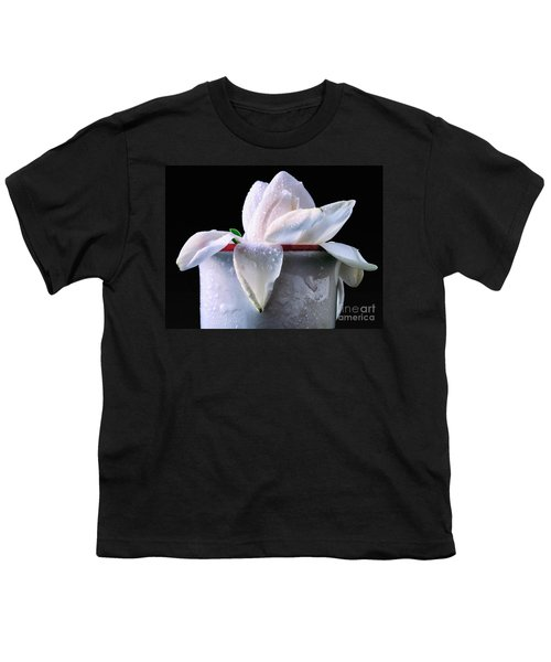 Youth T-Shirt featuring the photograph Gardenia In Coffee Cup by Silvia Ganora