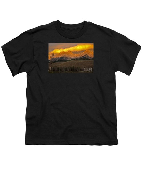 Glowing Sawtooth Mountains Youth T-Shirt