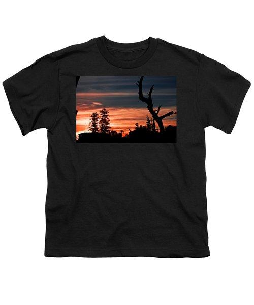 Youth T-Shirt featuring the photograph Good Night Trees by Miroslava Jurcik