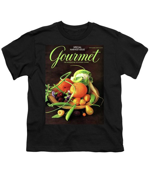 Gourmet Cover Featuring A Variety Of Fruit Youth T-Shirt by Romulo Yanes