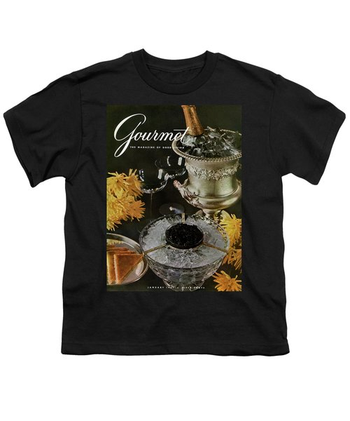 Gourmet Cover Featuring A Wine Cooler Youth T-Shirt