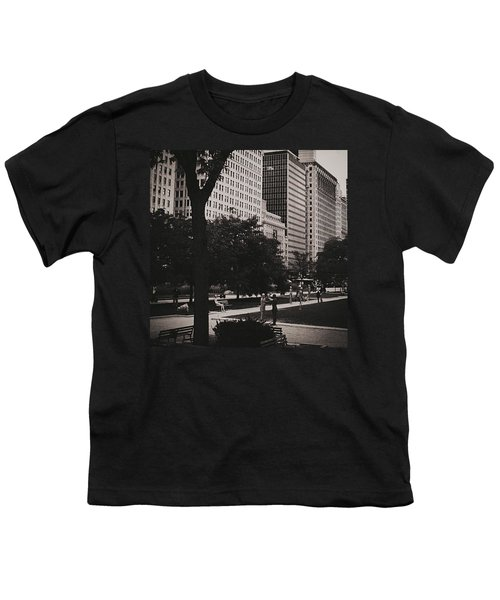 Grant Park Chicago - Monochrome Youth T-Shirt