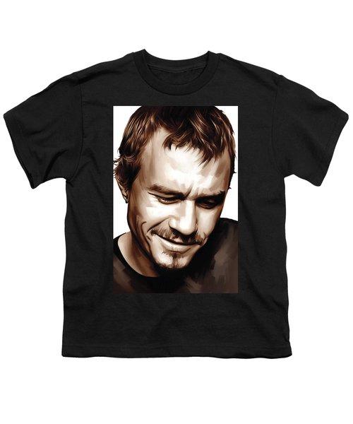 Heath Ledger Artwork Youth T-Shirt by Sheraz A