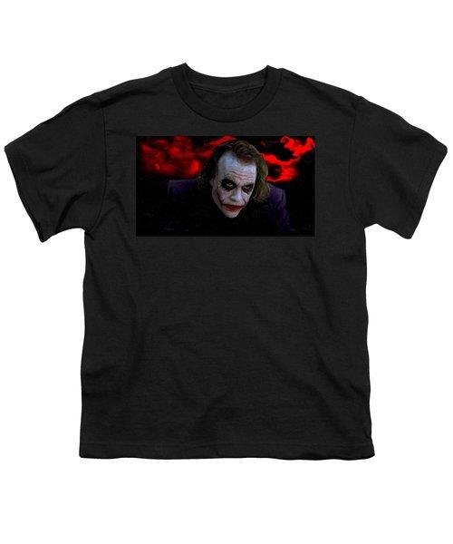Heath Ledger As Joker Youth T-Shirt by Image World