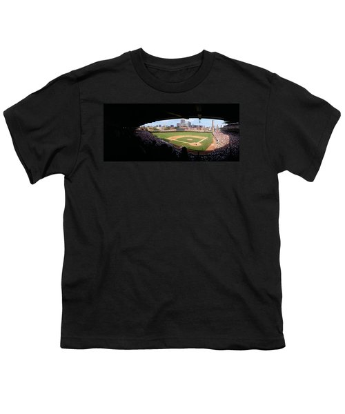 High Angle View Of A Baseball Stadium Youth T-Shirt