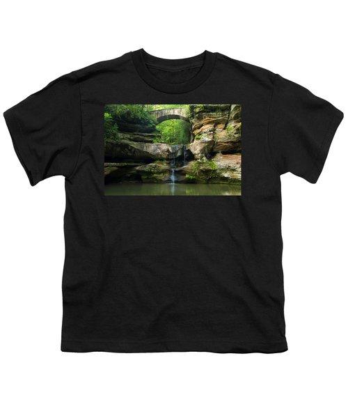 Hocking Hills Waterfall 1 Youth T-Shirt