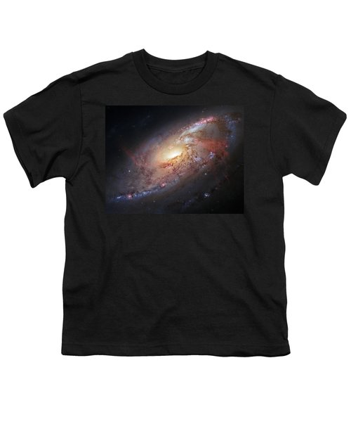 Hubble View Of M 106 Youth T-Shirt by Adam Romanowicz