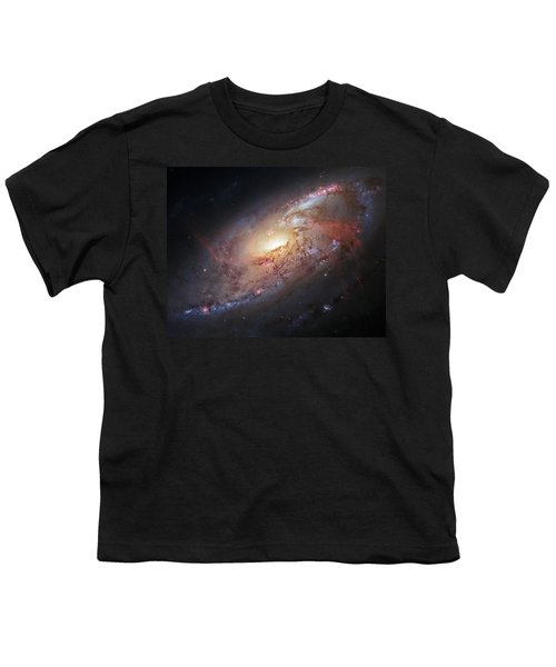 Hubble View Of M 106 Youth T-Shirt
