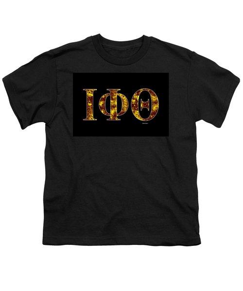 Iota Phi Theta - Black Youth T-Shirt by Stephen Younts