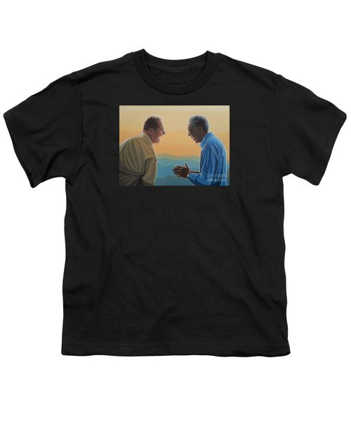Jack Nicholson And Morgan Freeman Youth T-Shirt by Paul Meijering