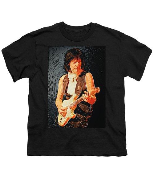 Jeff Beck Youth T-Shirt by Taylan Apukovska