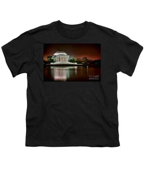 Jefferson Memorial At Night Youth T-Shirt