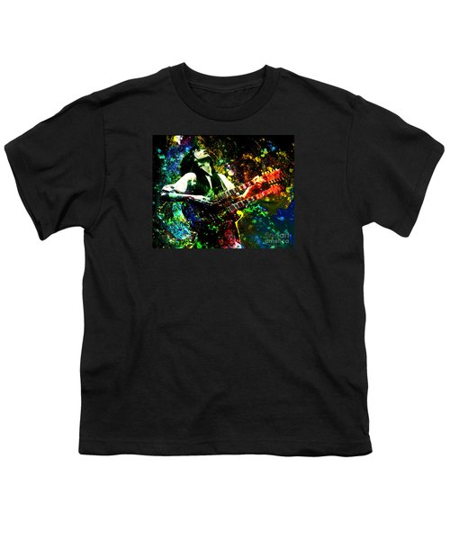 Jimmy Page - Led Zeppelin - Original Painting Print Youth T-Shirt by Ryan Rock Artist