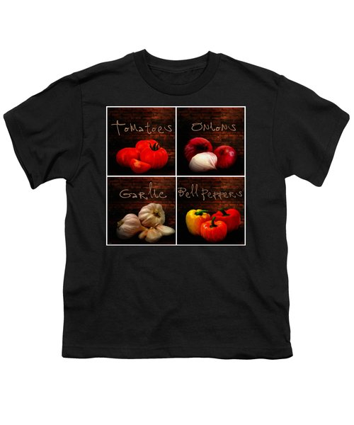 Kitchen Ingredients Collage II Youth T-Shirt by Lourry Legarde