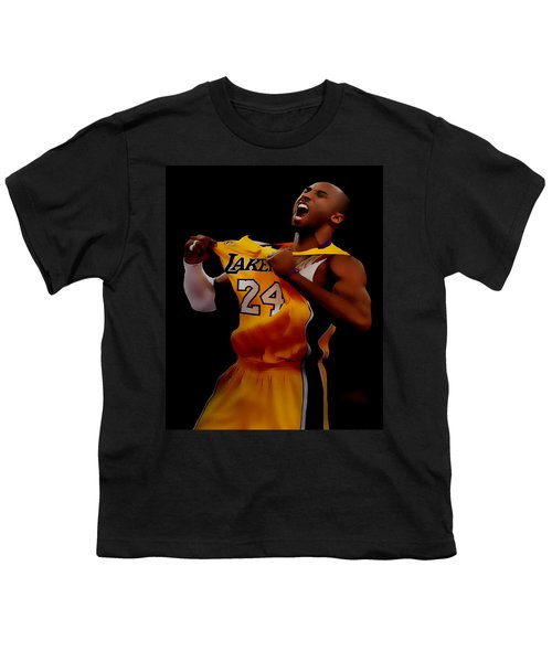 Kobe Bryant Sweet Victory Youth T-Shirt by Brian Reaves