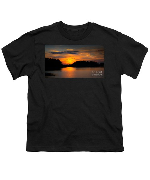 Youth T-Shirt featuring the photograph Lake Naomi Pocono Sunset by Gary Keesler