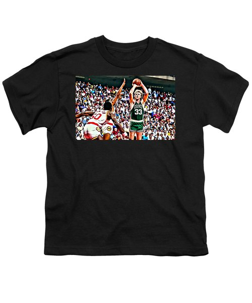 Larry Bird Youth T-Shirt by Florian Rodarte