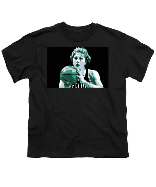 Larry Bird Poster Art Youth T-Shirt by Florian Rodarte