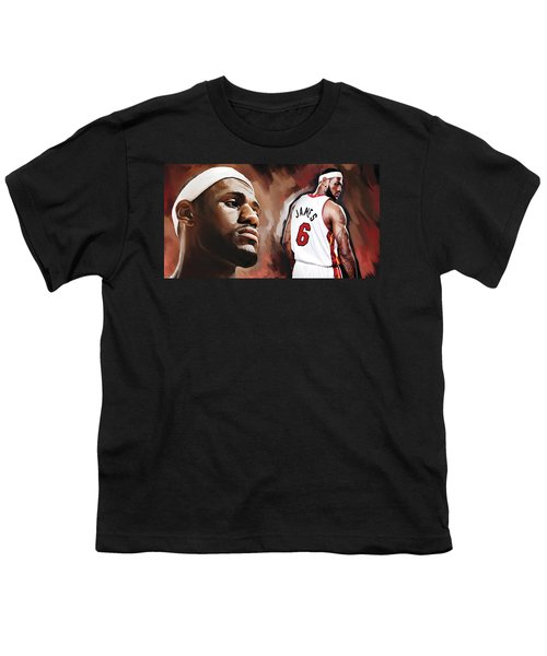 Lebron James Artwork 2 Youth T-Shirt