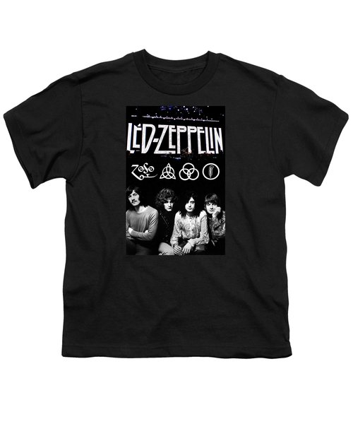 Led Zeppelin Youth T-Shirt by FHT Designs